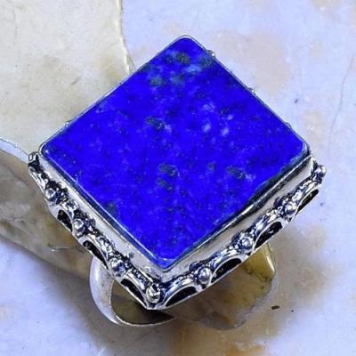 Lpc 204a bague chevaliere t64 lapis lazuli 20x20mm bijou ethnique afghan argent 925 achat vente