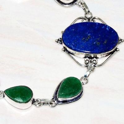 Lpc 207b bracelet lapis lazuli bleu emeraude bijou tibet afghanistan argent 925 achat vente