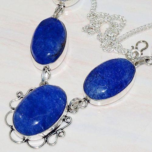Lpc 209b collier sautoir parure lapis lazuli bijou ethnique tibet afghan argent 925 achat vente