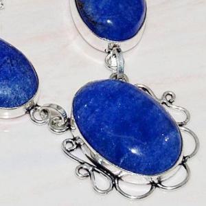 Lpc 209c collier sautoir parure lapis lazuli bijou ethnique tibet afghan argent 925 achat vente