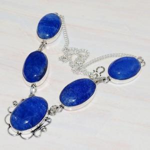 Lpc 209d collier sautoir parure lapis lazuli bijou ethnique tibet afghan argent 925 achat vente