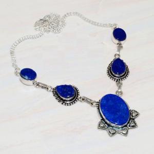 Lpc 211a collier sautoir parure lapis lazuli bijou ethnique tibet afghan argent 925 achat vente