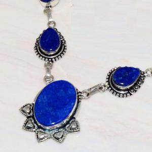 Lpc 211b collier sautoir parure lapis lazuli bijou ethnique tibet afghan argent 925 achat vente