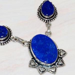 Lpc 211c collier sautoir parure lapis lazuli bijou ethnique tibet afghan argent 925 achat vente