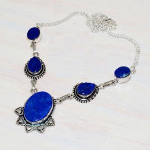 Lpc 211d collier sautoir parure lapis lazuli bijou ethnique tibet afghan argent 925 achat vente