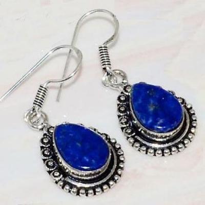 Lpc 212c boucles pendants oreilles lapis lazuli bleu bijou afghanistan argent 925 achat vente