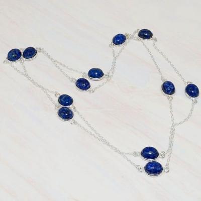 Lpc 215a collier sautoir parure 90cm lapis lazuli bleu bijou ethnique tibetargent 925 achat vente