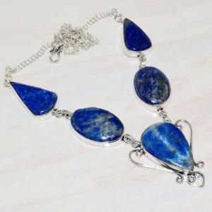 Lpc 218a collier sautoir parure 34gr lapis lazuli bijou ethnique afghan argent 925 achat vente