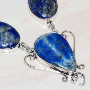 Lpc 218c collier sautoir parure 34gr lapis lazuli bijou ethnique afghan argent 925 achat vente