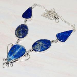 Lpc 218d collier sautoir parure 34gr lapis lazuli bijou ethnique afghan argent 925 achat vente
