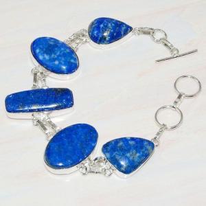 Lpc 219a bracelet lapis lazuli bleu ethnique tibet afghan afghanistan argent 925 achat vente