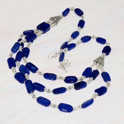 Lpc 220dt collier sautoir parure 55gr lapis lazuli ethnique tibet afghan argent 925 achat vente
