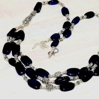 Lpc 223b collier sautoir parure 61gr lapis lazuli ethnique tibet afghan argent 925 achat vente