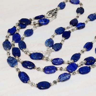 Lpc 225bt collier sautoir parure 55gr lapis lazulibijou ethnique tibet afghan argent achat vente