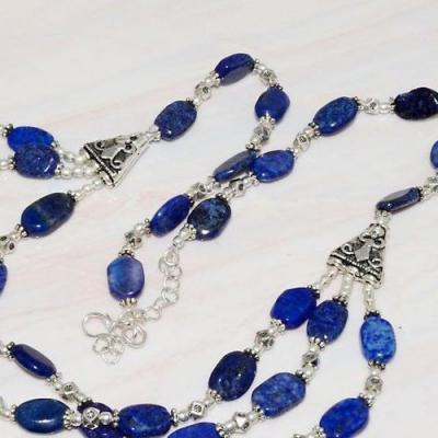 Lpc 226bt collier sautoir parure 49gr lapis lazuli bijou ethnique tibet afghan argent achat vente