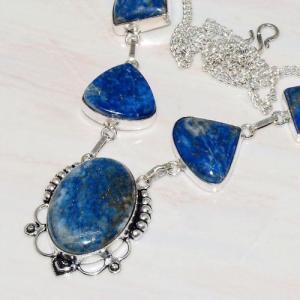 Lpc 232b collier sautoir parure lapis lazuli bijou ethnique tibet afghan argent 925 achat vente