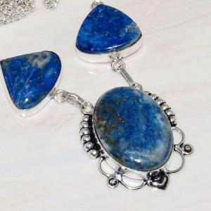 Lpc 232c collier sautoir parure lapis lazuli bijou ethnique tibet afghan argent 925 achat vente