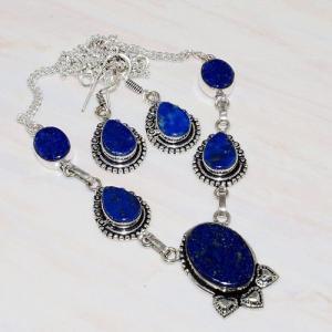 Lpc 236a collier boucles oreilles lapis lazuli bijou ethnique afghanistan argent achat vente