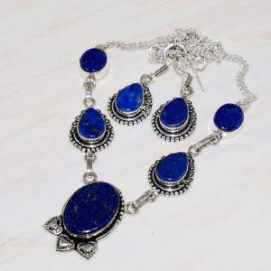 Lpc 236d collier boucles oreilles lapis lazuli bijou ethnique afghanistan argent achat vente