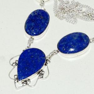 Lpc 265b collier sautoir parure 34gr lapis lazuli bijou ethnique afghan argent 925 achat vente