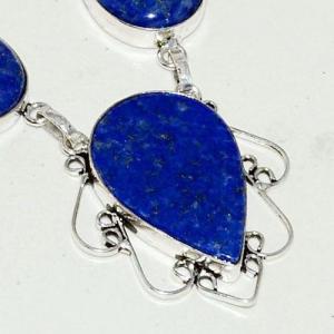 Lpc 265c collier sautoir parure 34gr lapis lazuli bijou ethnique afghan argent 925 achat vente