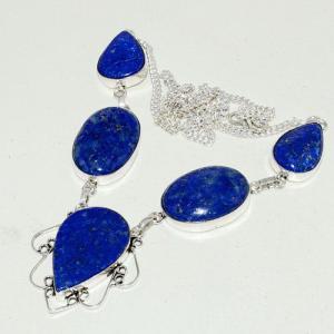 Lpc 265d collier sautoir parure 34gr lapis lazuli bijou ethnique afghan argent 925 achat vente