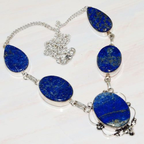 Lpc 269a collier sautoir parure 39gr lapis lazuli bijou ethnique tibet afghan argent achat vente