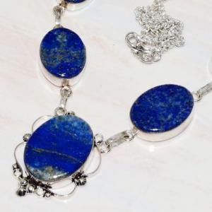 Lpc 269b collier sautoir parure 39gr lapis lazuli bijou ethnique tibet afghan argent achat vente
