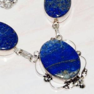 Lpc 269c collier sautoir parure 39gr lapis lazuli bijou ethnique tibet afghan argent achat vente