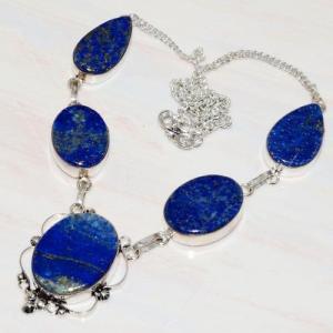 Lpc 269d collier sautoir parure 39gr lapis lazuli bijou ethnique tibet afghan argent achat vente