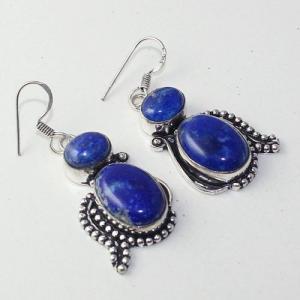Lpc 272a boucles pendant oreilles lapis lazuli 17gr bijou ethnique argent 925 achat vente