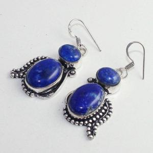 Lpc 272b boucles pendant oreilles lapis lazuli 17gr bijou ethnique argent 925 achat vente