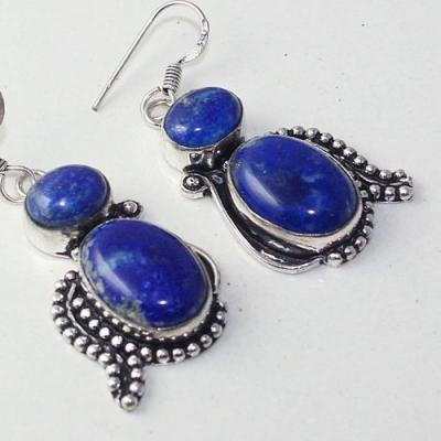 Lpc 272c boucles pendant oreilles lapis lazuli 17gr bijou ethnique argent 925 achat vente
