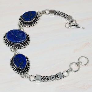 Lpc 273a bracelet lapis lazuli 20x15mm egyptien afghan bijou argent 925 achat vente