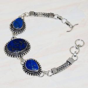 Lpc 273b bracelet lapis lazuli 20x15mm egyptien afghan bijou argent 925 achat vente