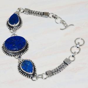 Lpc 273d bracelet lapis lazuli 20x15mm egyptien afghan bijou argent 925 achat vente