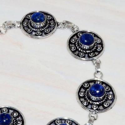 Lpc 275b bracelet 17gr lapis lazuli 8mm egyptien afghan bijou argent 925 achat vente