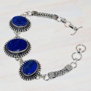 Lpc 277a bracelet 25gr lapis lazuli 25mm egyptien afghan bijou argent 925 achat vente