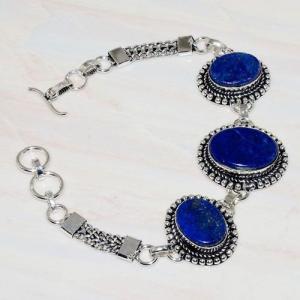 Lpc 277b bracelet 25gr lapis lazuli 25mm egyptien afghan bijou argent 925 achat vente