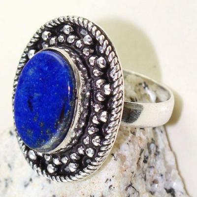 Lpc 278c bague chevaliere t61 lapis lazuli 12x16mm bijou ethnique afghan argent 925 achat vente