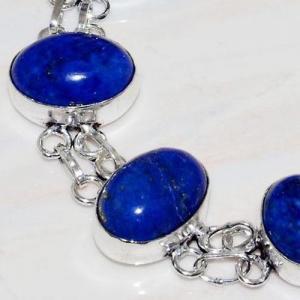 Lpc 279c bracelet 26gr lapis lazuli 12x16mm egyptien afghan bijou argent 925 achat vente