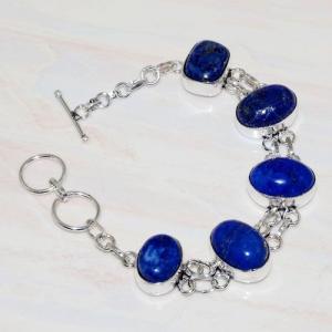 Lpc 279d bracelet 26gr lapis lazuli 12x16mm egyptien afghan bijou argent 925 achat vente