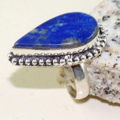Lpc 284a bague chevaliere t62 lapis lazuli 22x14mm bijou ethnique afghan argent 925 achat vente