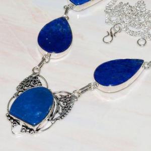 Lpc 291b collier sautoir parure 34gr lapis lazuli bijou ethnique afghan argent achat vente
