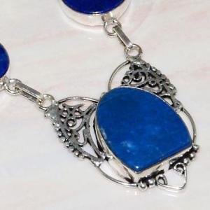 Lpc 291c collier sautoir parure 34gr lapis lazuli bijou ethnique afghan argent achat vente