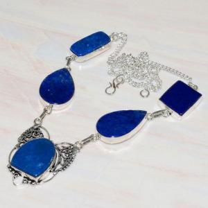 Lpc 291d collier sautoir parure 34gr lapis lazuli bijou ethnique afghan argent achat vente