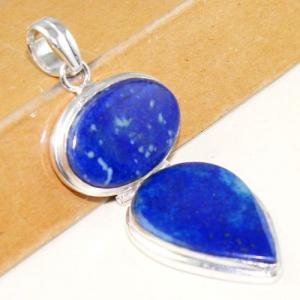 Lpc 292a pendentif 18gr lapis lazuli 30x60mm egyptien afghan bijou argent 925 achat vente