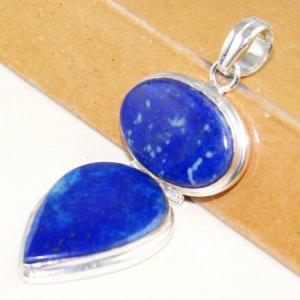 Lpc 292b pendentif 18gr lapis lazuli 30x60mm egyptien afghan bijou argent 925 achat vente