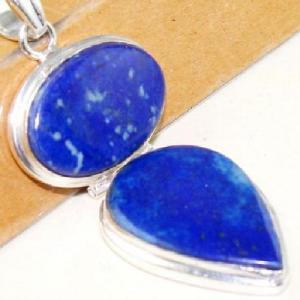 Lpc 292c pendentif 18gr lapis lazuli 30x60mm egyptien afghan bijou argent 925 achat vente