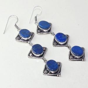 Lpc 293a boucles pendant oreilles 19gr lapis lazuli bijou ethnique argent achat vente